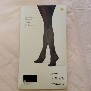 a new day flocked tights size S/M